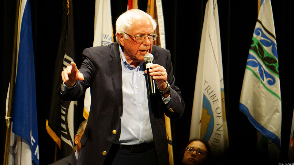 Sanders a hit at the Native Presidential Candidate forum