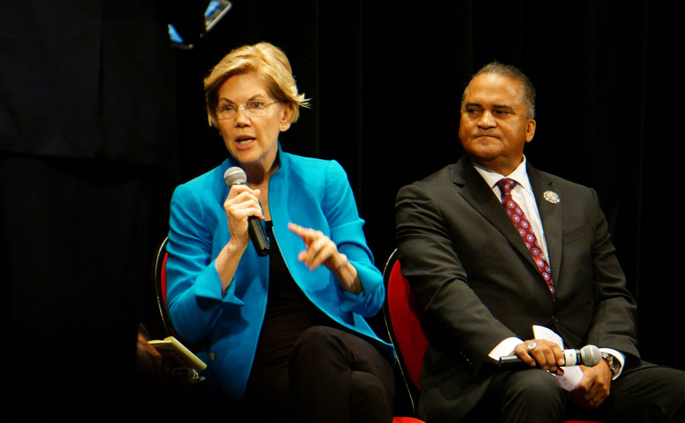 Elections 2020: Warren and Klobuchar address Native American presidential candidate forum