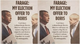 U.K.: Anti-immigrant leader Nigel Farage offers pact with Conservatives to 'destroy Labour'