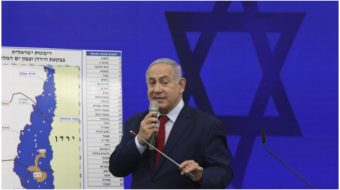 "Netanyahu election promise: Annex part of West Bank ""in coordination"" with U.S."