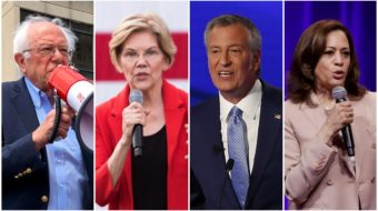 Rating the presidential hopefuls: Only a few support unions in public