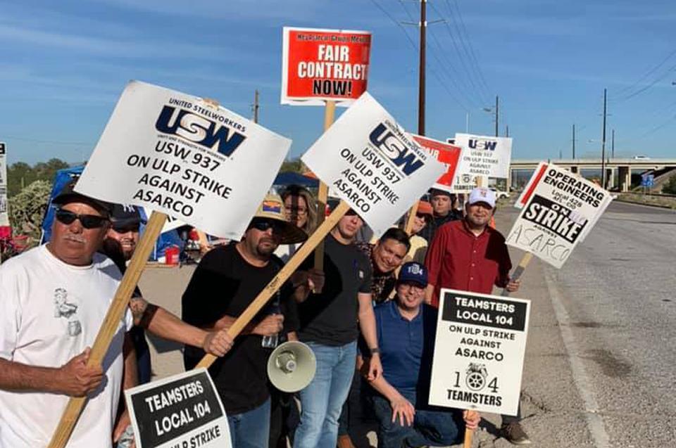 Tucson: Copper miners on strike in Arizona