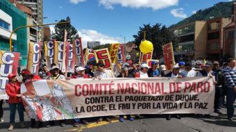 Colombia: Miles de personas marchan contra políticas del Gobierno