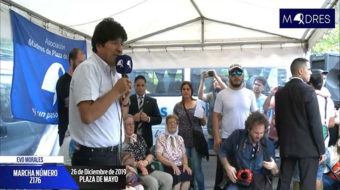 Evo Morales marcha junto a las Madres de Plaza de Mayo en Argentina