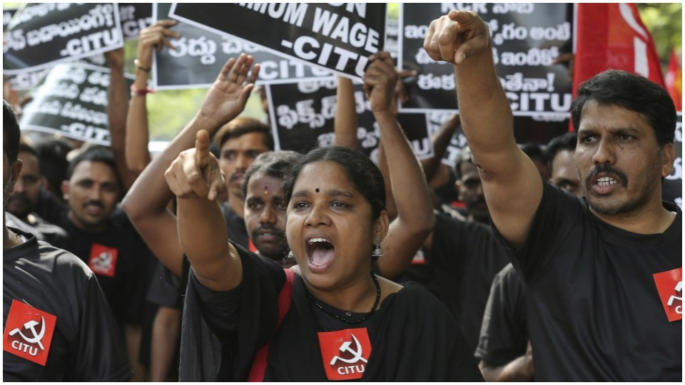 """The toiling people are rising"": Up to 250 million strike in India"