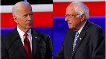 Sanders criticizes Biden's record on the Mideast