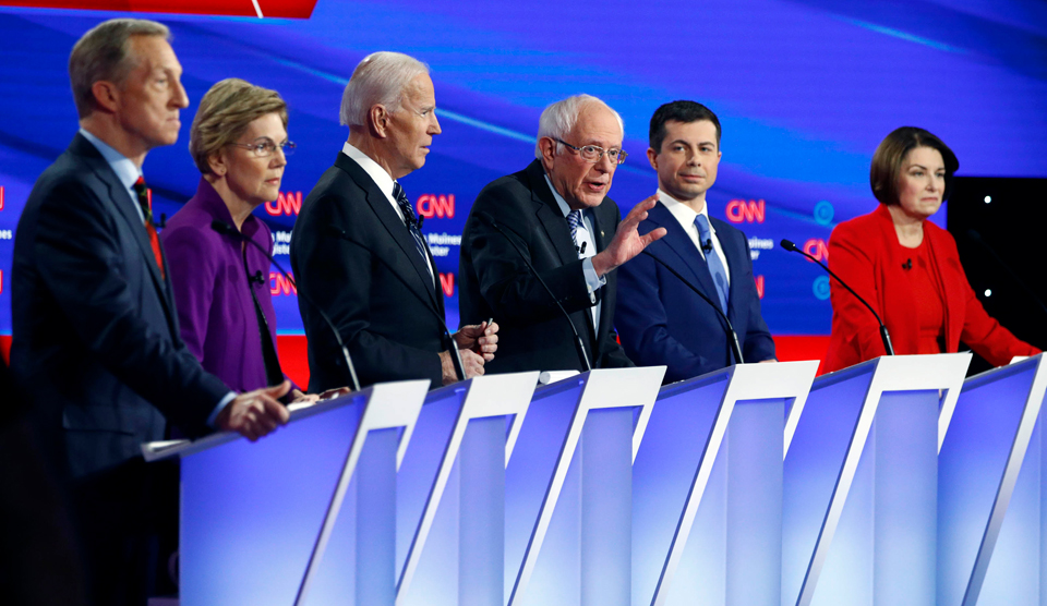 Trump's war on Iran, health care loom large at Dem debate