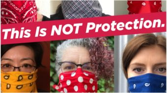 Nurses launch campaign against CDC's OK of bandannas and scarves