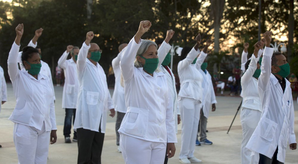 Cuban doctors battle COVID-19 around the globe, defying U.S.