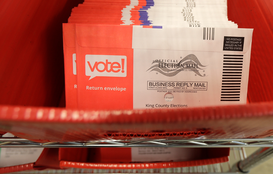 Stay safe, stay well; Protect democracy, vote by mail