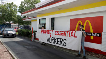 McCOVID protest combo: McDonald's workers PPE strike hits stores, shareholders meeting
