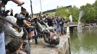 Racist monuments fall: Watery end for slave trader statue in UK