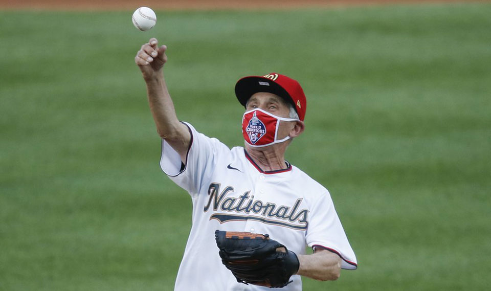Welcome back baseball! Players kneel for Black Lives; Fauci tosses first pitch