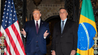 Trump in 'free trade' talks with Brazilian right-wing authoritarian President Bolsonaro