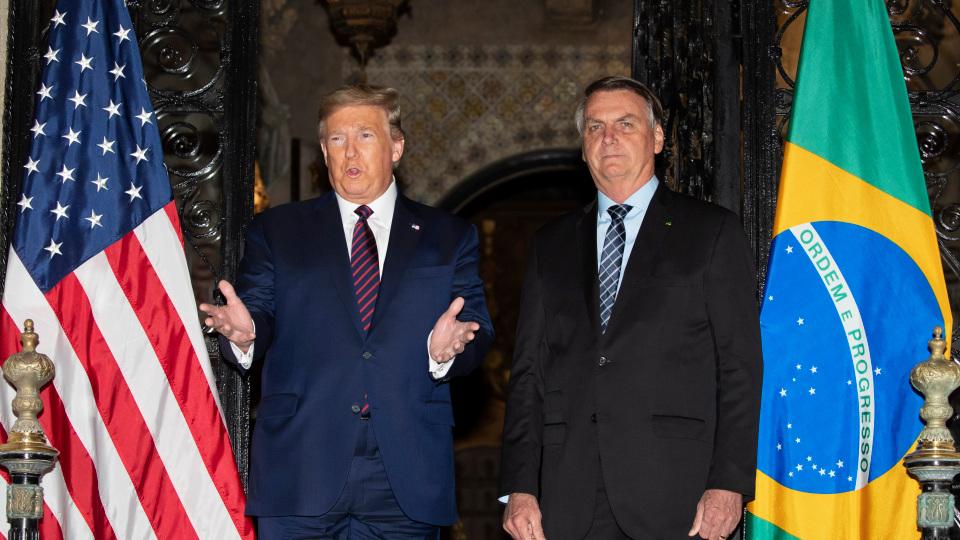 Trump in 'free trade' talks with Brazilian right-wing authoritarian President Bolsonaro