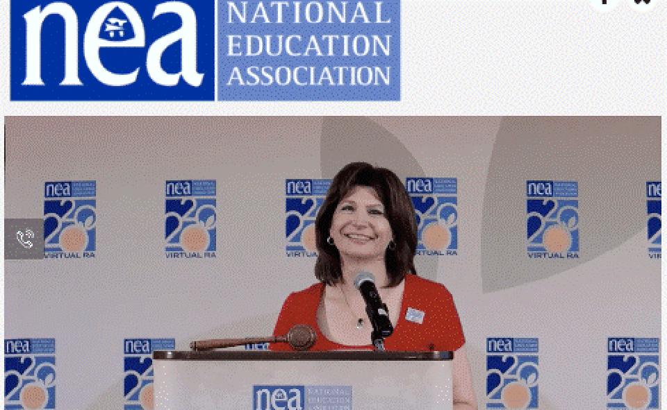 NEA President's valedictory speech challenges teachers to take on Trump