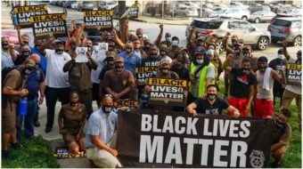 Tens of thousands walk off job in 'Strike for Black Lives'