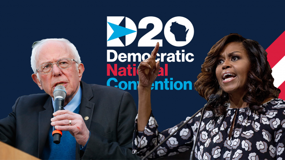 Bernie Sanders and Michelle Obama rally the troops