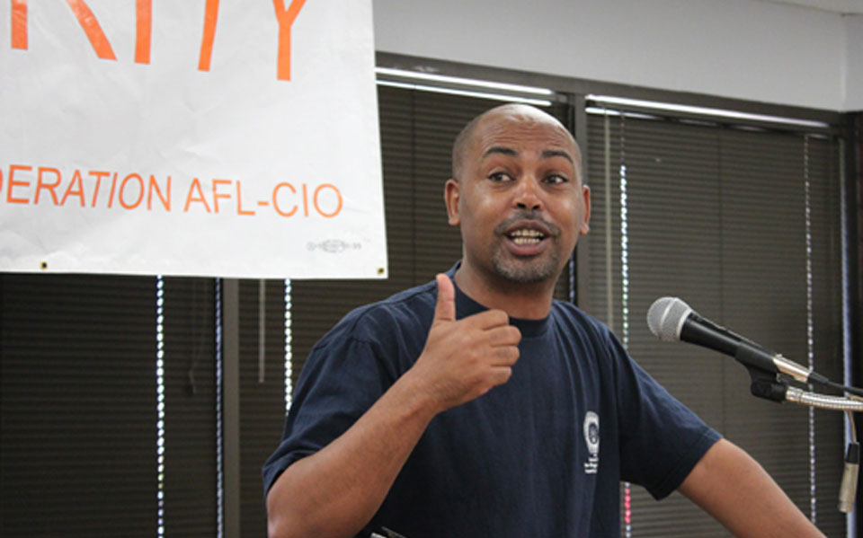 Tefere Gebre, nation's top Black labor leader, challenges Dems on racism