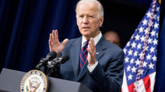 Working Families Party members voting on backing Biden