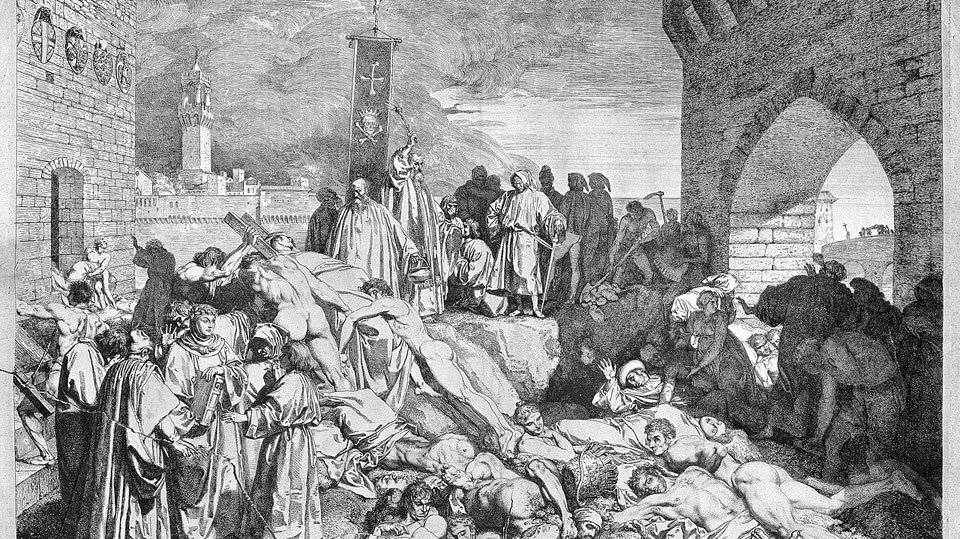 Writing at a time of plague: Boccaccio, Dante, Petrarca, Chaucer