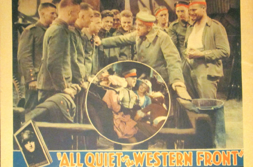 Erich Maria Remarque's anti-war novel 'All Quiet on the Western Front'