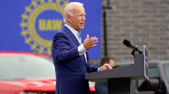 Biden tells UAW he plans clean energy factory future