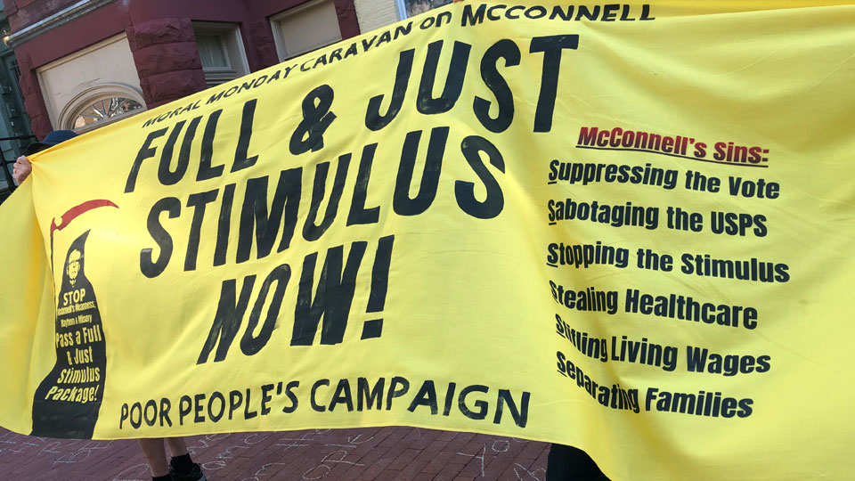Poor People's Campaign and progressive allies take fight to Mitch McConnell's doorstep
