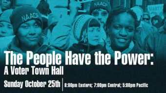People's World Oct. 25 Voter Town Hall: 'The People Have the Power'