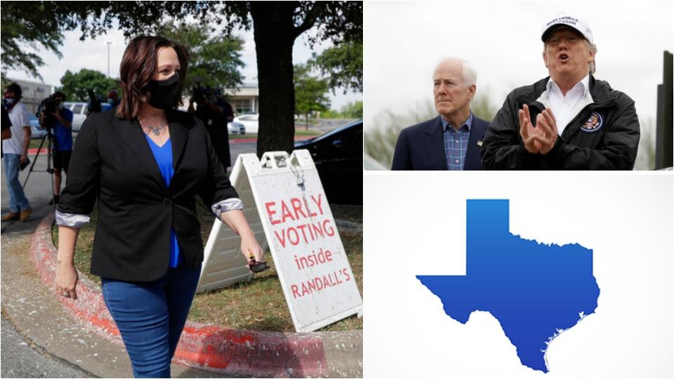 Texas voter tsunami could flush Trump ally Cornyn out of Senate