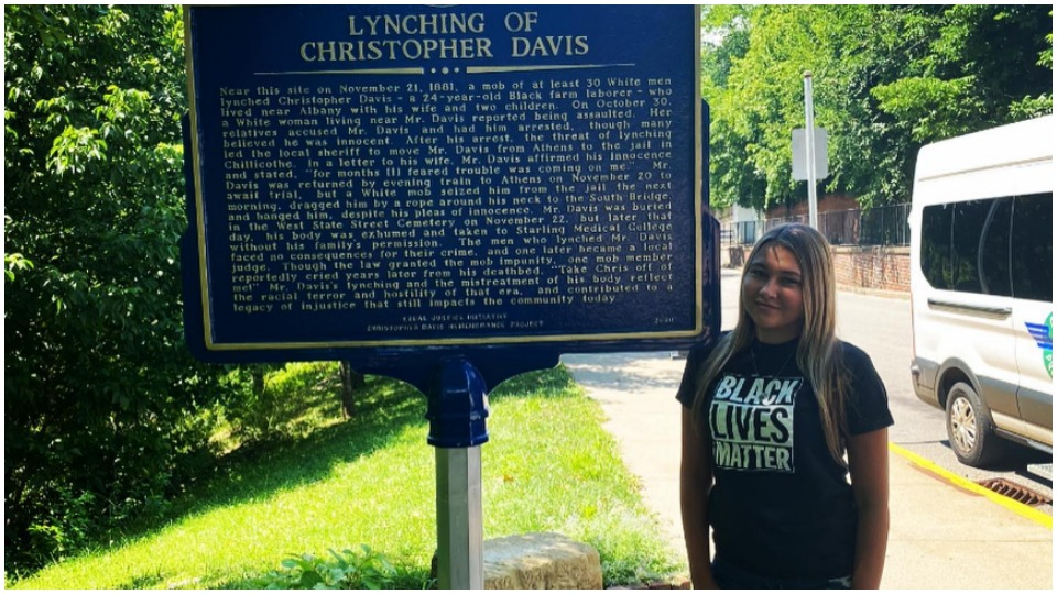Ohio student's research rescues memory of lynched Black man, Christopher Davis