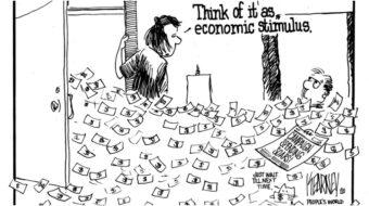 Think of it as economic stimulus