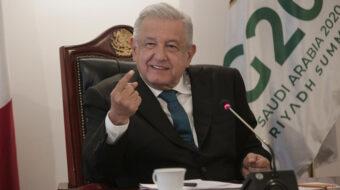 López Obrador dice en G20 que atenderse salud sin afán de lucro y ayudar a pobres