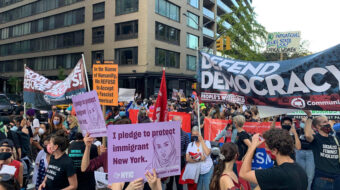 New York 'protect the vote' rally turns into a party