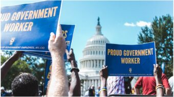 Unions back attempt to block Trump's return to spoils system