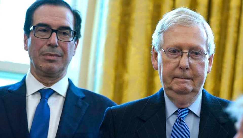 McConnell, Mnuchin stall talks on COVID relief bill