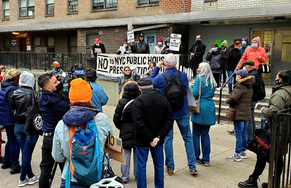 New York tenants battle privatization of public housing