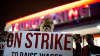 Low-wage Fight for 15 workers forced to walk out Jan. 15