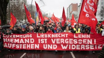 German communists hit out at police brutality on Rosa Luxemburg march