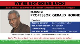 'We're not going back': N.Y. Black History event featuring Gerald Horne, Feb. 28