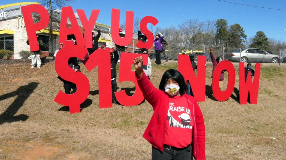 Fast food workers forced to walk out again for $15 and a union