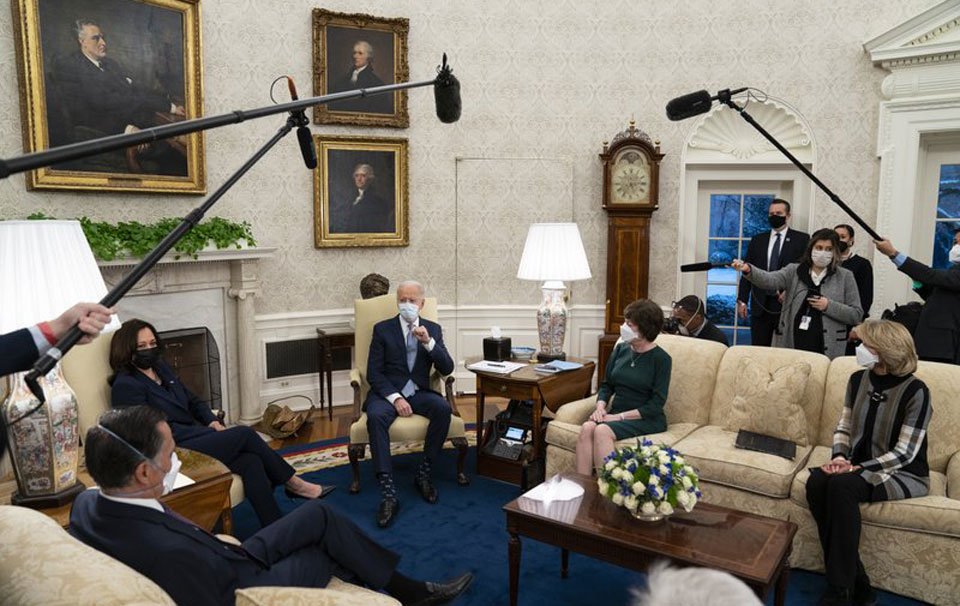 Biden discussing COVID-19 aid with Dems, wants fast action