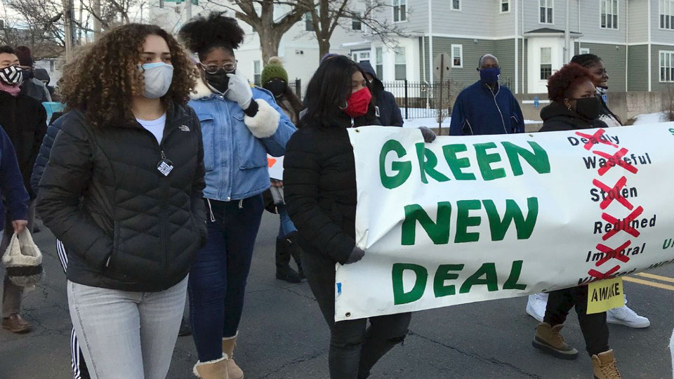 New Haven youth target gun violence, inequality at Black history month march
