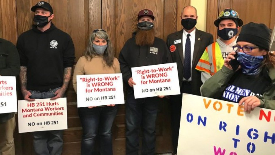 Montana defeats 'right to work'; W. Va. governor admits it's failed his state