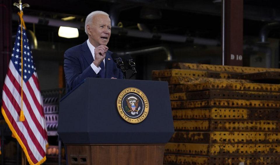 Biden announces huge infrastructure plan to 'win the future'