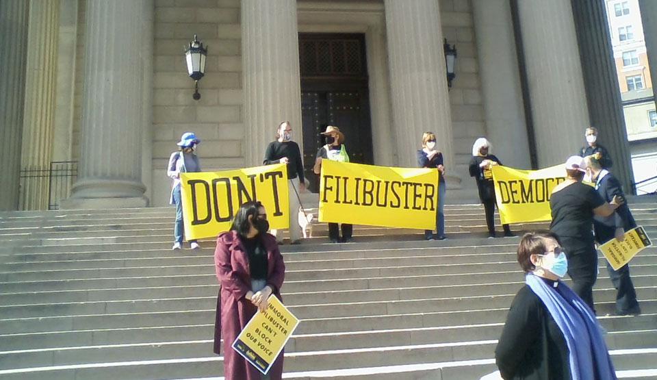 Poor People's Campaign to senators: 'Don't filibuster democracy'