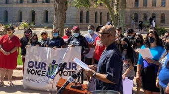 People of Arizona exert grassroots pressure on U.S. senators to abolish filibuster