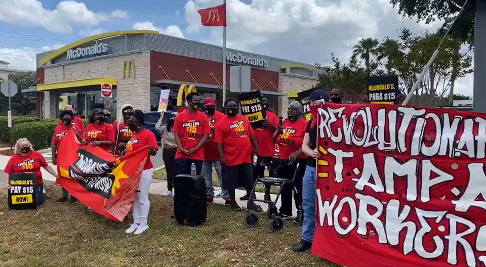 Thousands of McDonald's workers forced to stage 1-day strike today for $15/hr