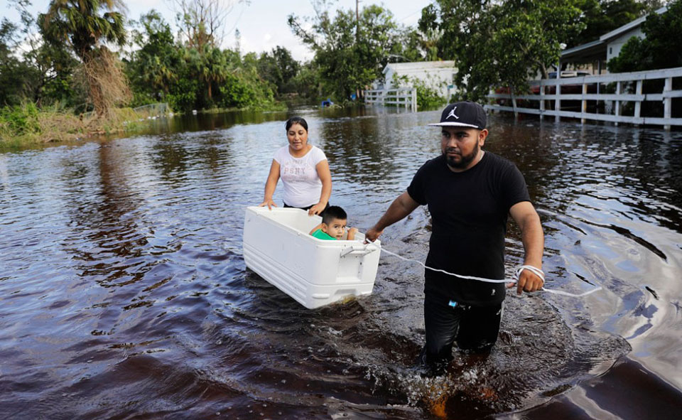 As temperatures rise, extreme weather displaces record numbers of people