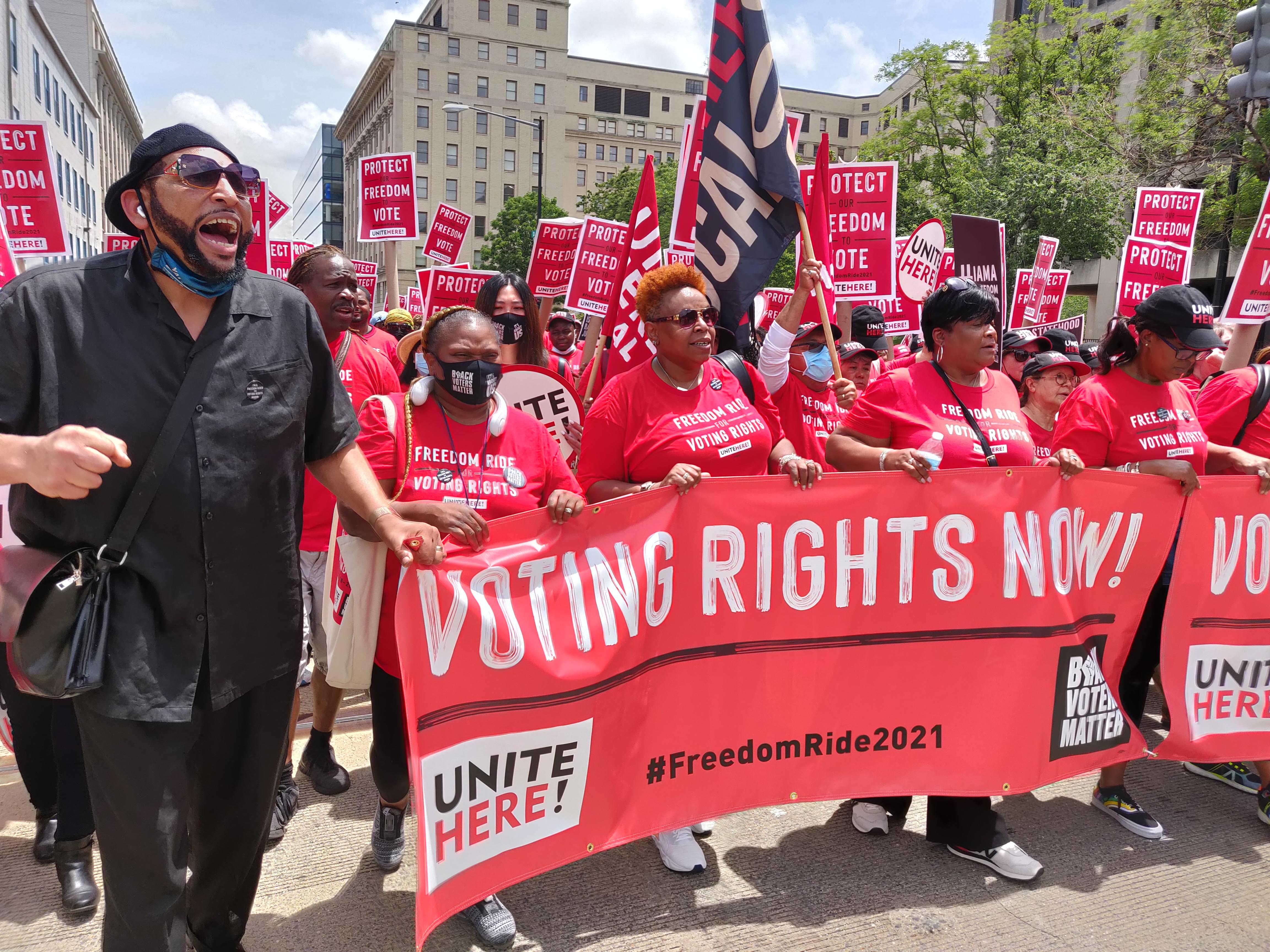 Mass D.C. rally speakers: Freedom Riders intensify voting rights drive